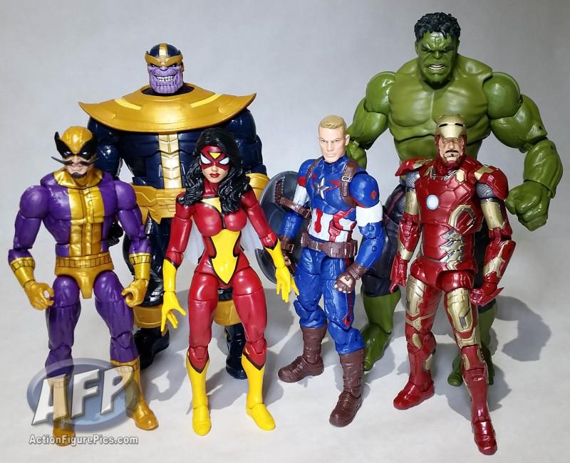 Marvel Legends Thanos wave group shot (7 of 8)