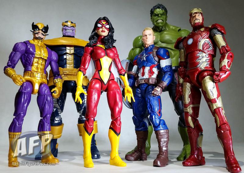 Marvel Legends Thanos wave group shot (8 of 8)