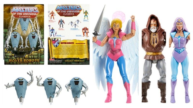 Mattycollector April sale - Hover Robots, Angella, Eldor, and Glimmer