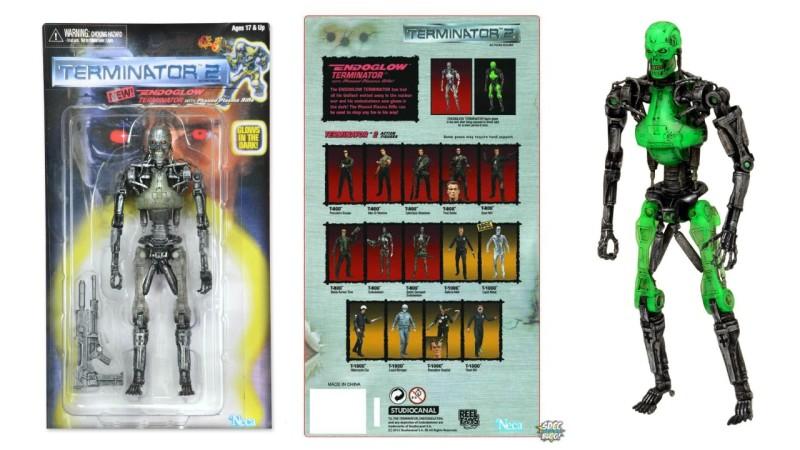 NECA SDCC exclusive Terminator 2 Retro Endoglow Endoskeleton