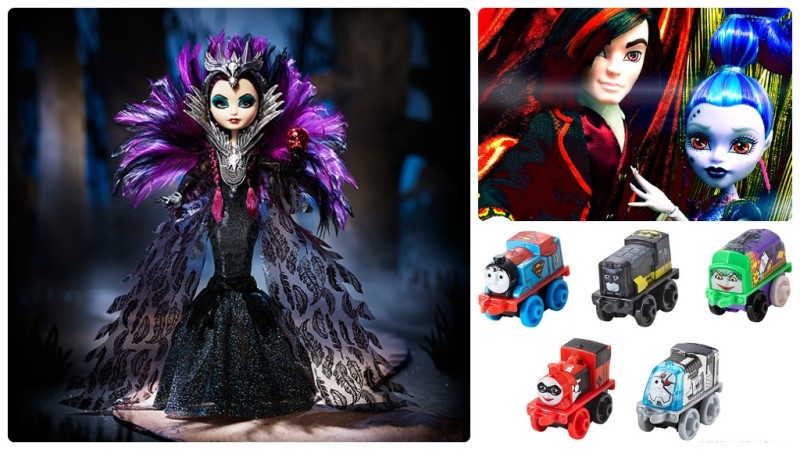 Mattel SDCC 2015 exclusives - Ever After High Raven Queen, Monster High villain 2-pack, Thomas and Friends Super Friends Minis