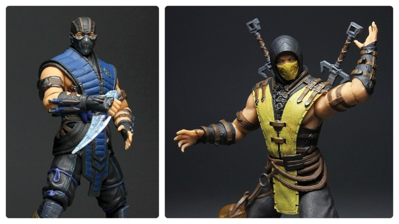 Mezco Mortal Kombat X 12-inch Sub-Zero and Scorpion