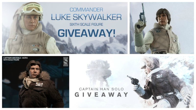 Sideshow Hoth Luke Skywalker and Han Solo giveaways