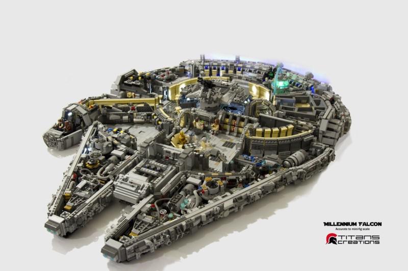 Titan Creations LEGO MOC Millenium Falcon 1