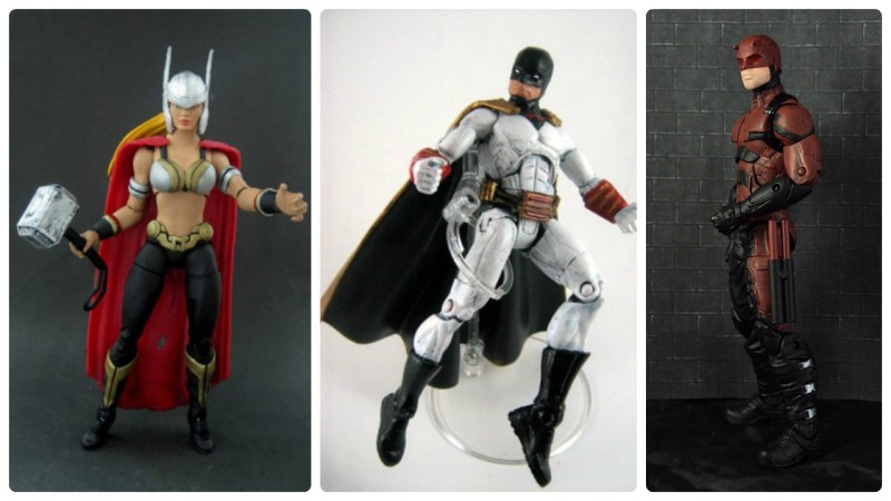 Border Patrol - Marvel Legends Thor (female), Space Ghost, and Daredevil (Netflix red)