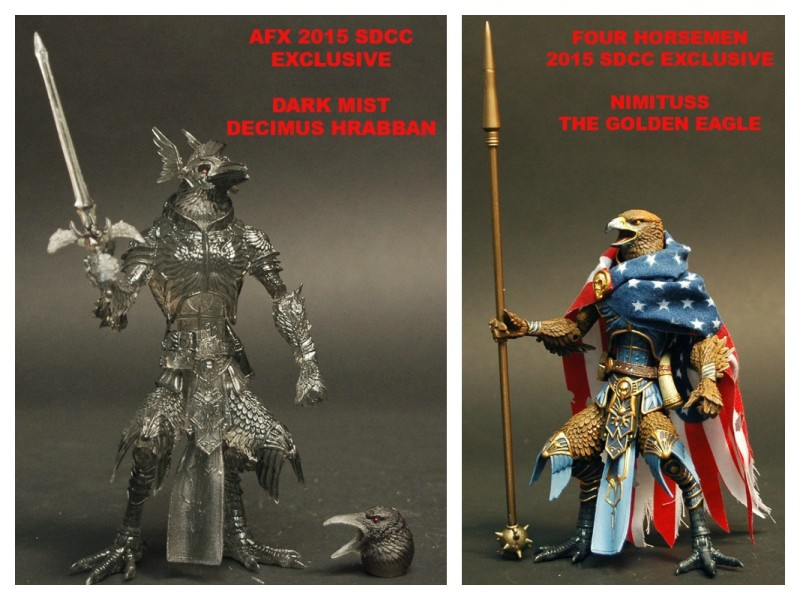 SDCC 2015 Four Horsemen AFX exclusive Ravens
