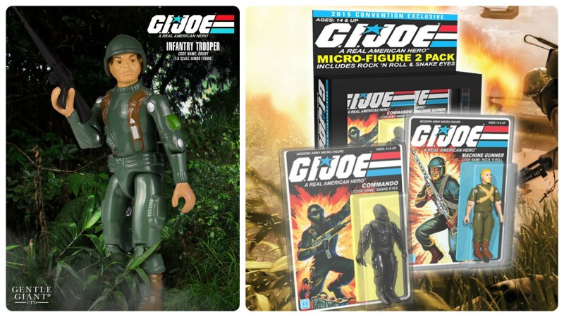 SDCC 2015 Gentle Giant G.I. JOE Jumbo and Micro exclusives