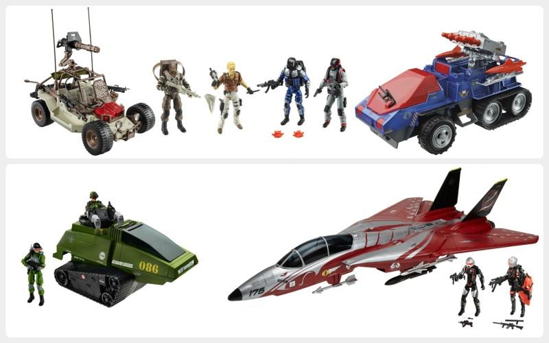 SDCC 2015 Hasbro G.I. JOE Desert Duel and Crimson Strike Sets