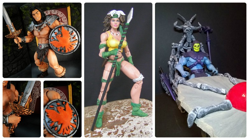 Border Patrol - Conan the Barbarian, Savage Land Rogue, and Skeletor's Bone Throne and Scrying Table