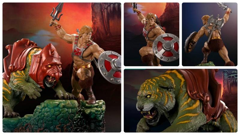 Pop Culture Shock He-Man and Battle Cat Quarter Scale Statues