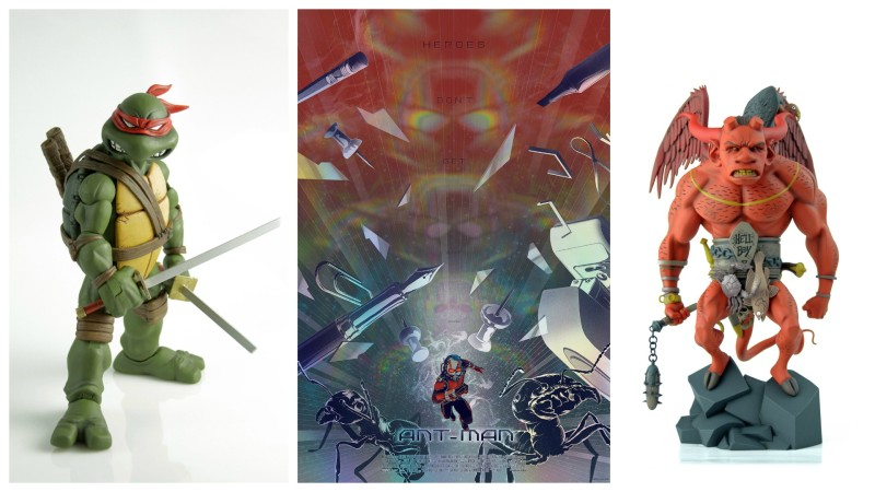SDCC 2015 Mondo TMNT, Ant-Man, and Hellboy