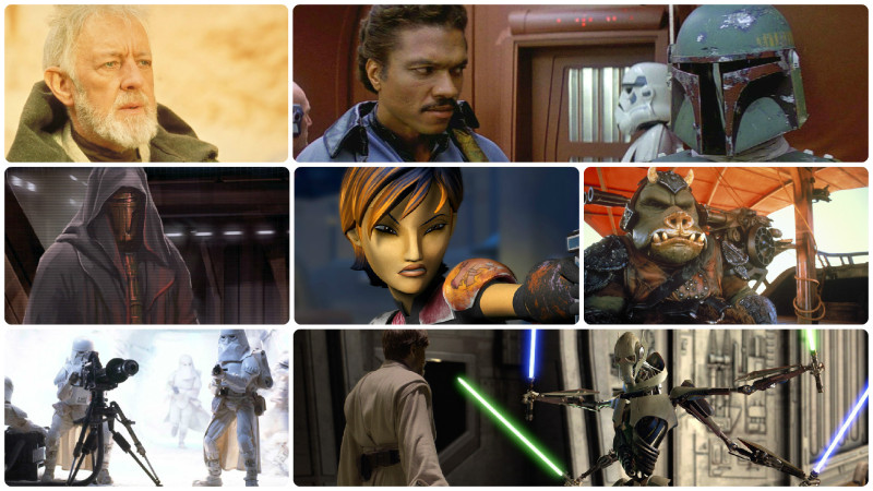 Star Wars Black Series Fans Choice Poll finalists